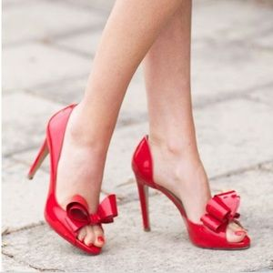 Red Valentino heels with bow